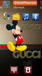 Скриншот темы Gucci Mickey