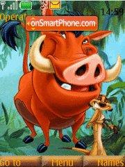 Timon N Pumba W Tone theme screenshot