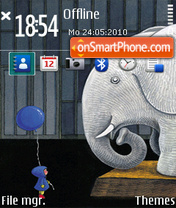 Boy and elephant ovi theme screenshot