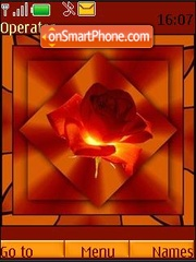 Orange rose tema screenshot
