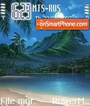 Moonlit Night Beach theme screenshot