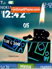 Ace Lighter Clock tema screenshot