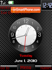 Carbon Clock 02 theme screenshot