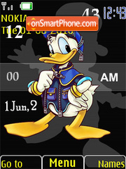 Скриншот темы Donald SWF Clock Tone
