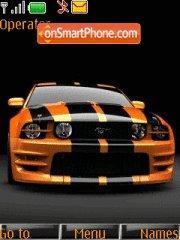 Orange Mustang 01 tema screenshot