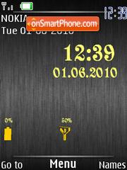 New Black Clock theme screenshot