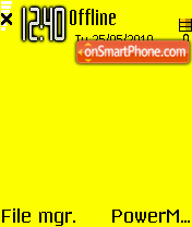 Yellow 03 theme screenshot