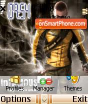 Infamous theme es el tema de pantalla
