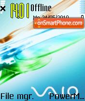 Vaio 02 theme screenshot