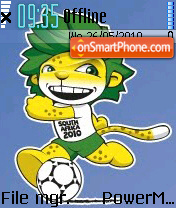 Worldcup 2010 es el tema de pantalla