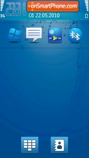 Blue feel tema screenshot