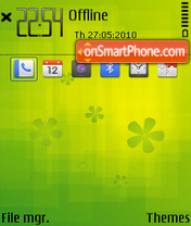 Greenness E theme screenshot