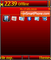 Red Black DI QVGA theme screenshot