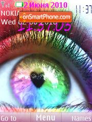 Eyes Clock theme screenshot