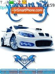 Auto blanco tema screenshot