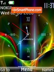 Clock 318 tema screenshot