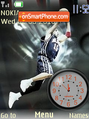 Clock basketboll theme screenshot