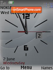Clock caratula theme screenshot