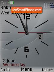 Скриншот темы Clock caratula
