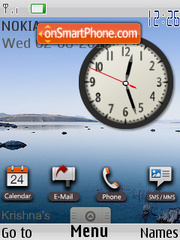 Clock Google theme screenshot