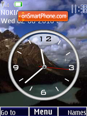 Montana Clock theme screenshot