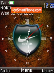 Clock Nike theme screenshot