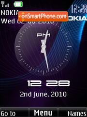Clock Nokia 48 theme screenshot