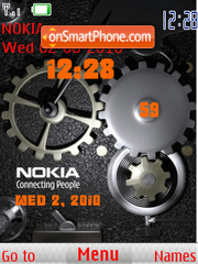 Clock Nokia theme screenshot