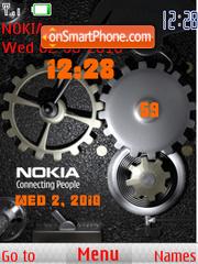 Clock Nokia es el tema de pantalla
