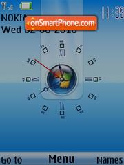 Clock Windows theme screenshot