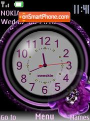 Clock violeta theme screenshot