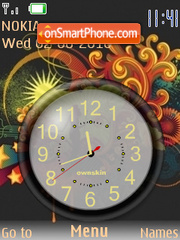 Clock Vector theme screenshot