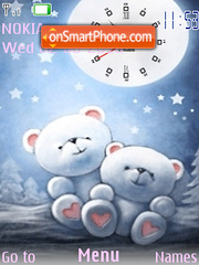 Clock Osito Teddy tema screenshot