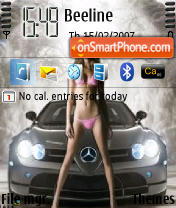 Girls Auto theme screenshot
