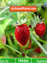 Wild straweberry(swf 2.0) by djgurza tema screenshot