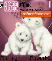 Cute Bears 01 es el tema de pantalla