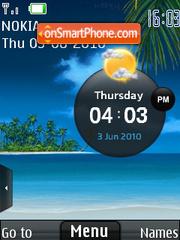 Скриншот темы Beach Clock 01