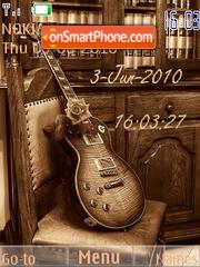 Guitar Clock theme screenshot