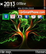 Fractal tree theme screenshot
