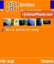 Orange Fresh theme screenshot