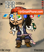 Jack Sparrow 09 theme screenshot