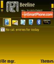 Bb7 theme screenshot