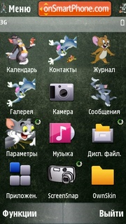 Скриншот темы Tom And Jerry Icons