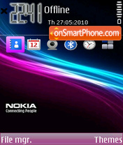 Nokia abstract 01 theme screenshot