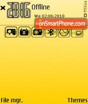 Gold 211 theme screenshot