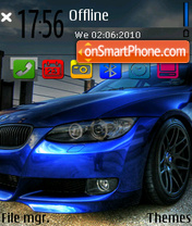 Blue bimmer 01 theme screenshot