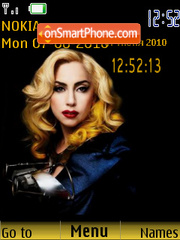 Lady Gaga SWF es el tema de pantalla