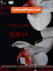 Flowers SWF Clock tema screenshot