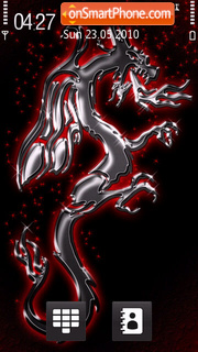 Скриншот темы Silver Dragon 01