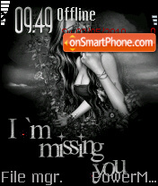 Im Missing U es el tema de pantalla